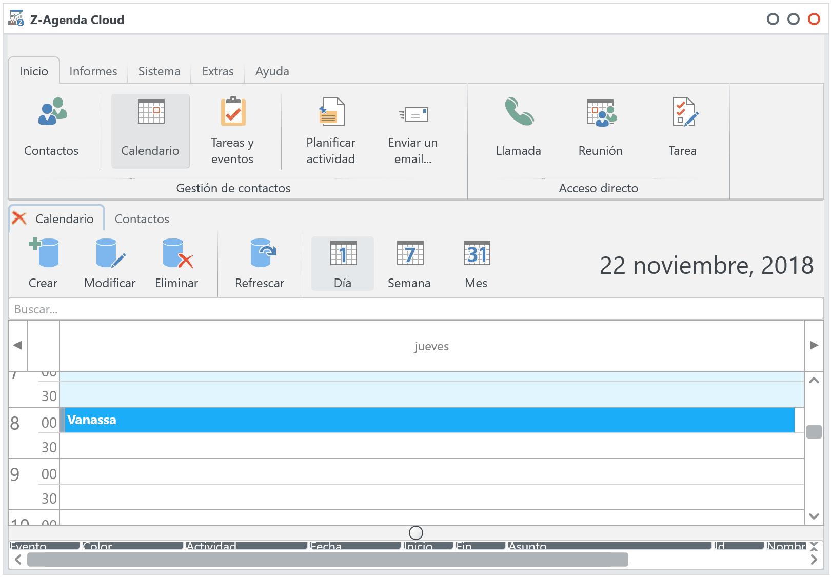 ZAgenda Cloud - software de agenda personal y gestión de contactos